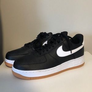 Nike Shoes - Nike Air Force 1 '07 Black White Gum